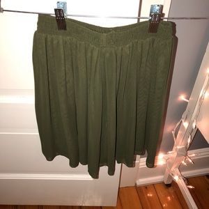 Army Green Chiffon Skirt
